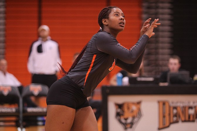 Women's Volleyball stumbles against John Carroll and Houghton to close out Bengal Challenge